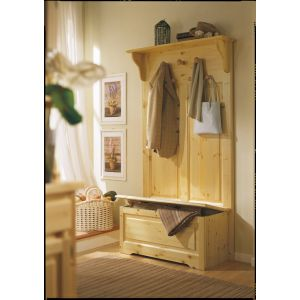 Cortina Colored Coat Rack with Storage Bench