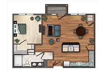 Valitalia One Bedroom Floor Plan Design
