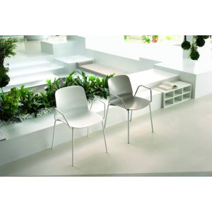 Stackable Outdoor Liù Chair with Armrests by Midj
