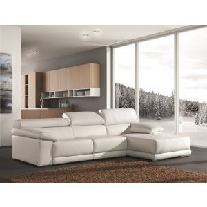 Cali Leather Sectional Sofa