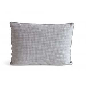 Houndstooth Rectangular Grey Pillow