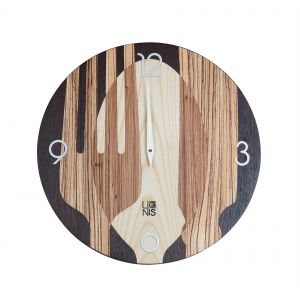 Legni Wall Clock Sovrapposte