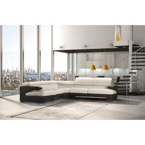 Opera Leather Sectional Sofa