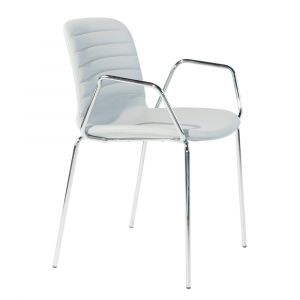 Stackable Liù Chair with Armrests by Midj