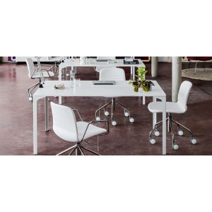 Trestle Chair with Wheels Liù by Midj