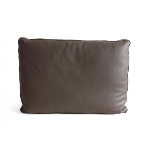 Light Grey Leather Pillow