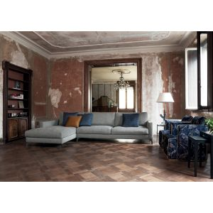 Franco Sectional Fabric Sofa with Chaise Longue