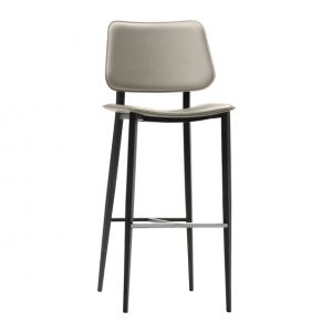 Thick Leather Bar Stool Joe M by Midj