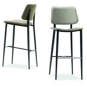 Leatherette Bar Stool Joe M by Midj