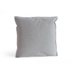 Houndstooth Square Grey Pillow