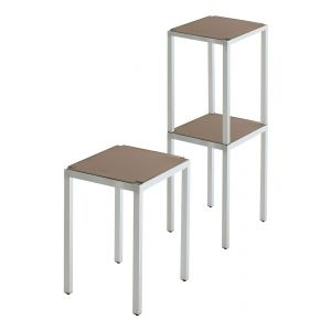 Poggio stacking stool and storage