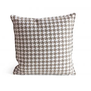 Houndstooth Classic Brown Pillow