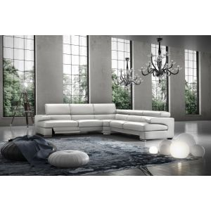 David Leather Sectional Sofa